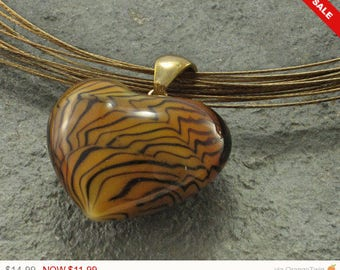 Sale - Christmas in July Murano Glass Pendant, Murano Glass Jewelry, Murano Necklace,Glass Heart, Heart Pendant,Choker Necklace,Heart Choker