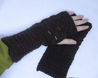 crochet fingerless mittens/gloves - MADE TO ORDER