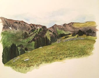 Custom Landscape Watercolor Painting