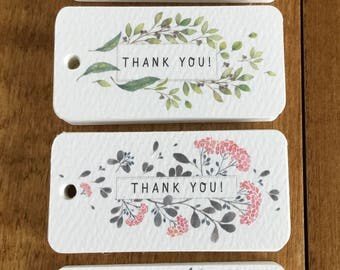 40 Thank You Tags (Assortment), Gift Tags, Wedding Tags, Wedding Shower Tags, Wedding Favor Tags, Thank You Tags, Favor Tags