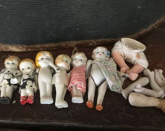 Bisque Doll Assortment for makers, collectors, and creatives