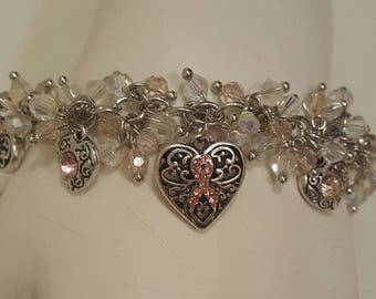 Breast Cancer Cha Cha Bracelet, Free Shipping