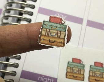 Stacked Suitcase Stickers
