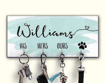 Personalized Key Holder - Housewarming - New Home Gift - Key Rack - Key Hanger - Key Organizer - Family Gift - Wedding Gift - Pet Owner Gift