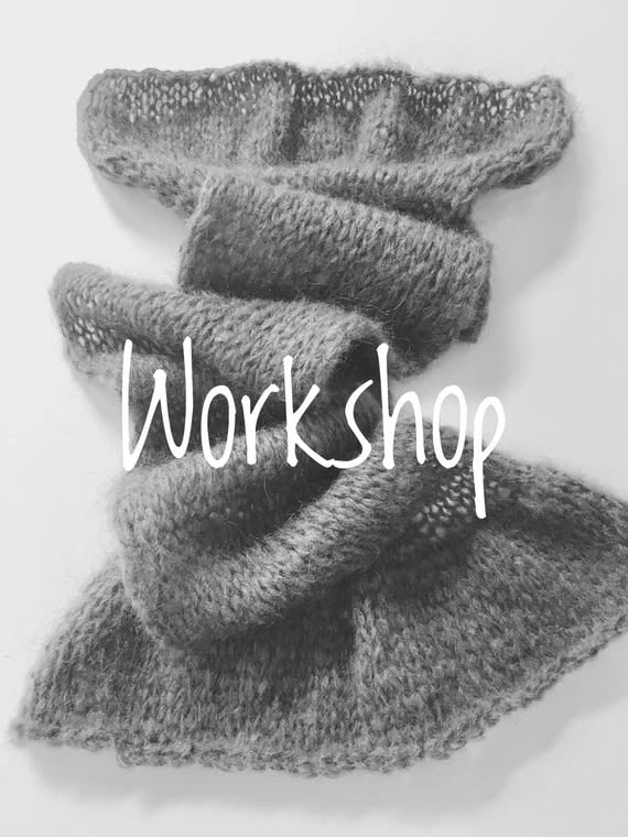 Workshop: Start to knit-Made with love by You-a scarf knitting