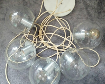 Special Offer! Vintage 70s RAAK Amsterdam 5 glass globes lamp B-1120.00