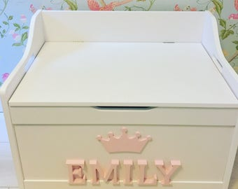 Personalised Toy, Seat, Toy Chest, children's storage