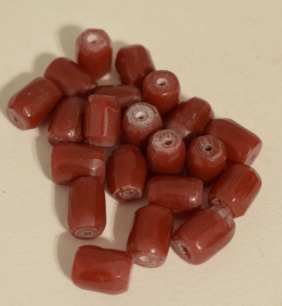 Beads African Moroccan Red Resin Faceted Vintage Beads Jewelry Necklace Resin Beads