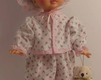 "Pink Rosebud Pajama Set for 15"" Horsman Ruthie Dolls"