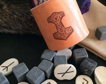 Viking Thor Mjolnir Cuff Thor hammer Celtic cuff Bracelet Norse Medieval  Leather cuff Viking cuff Mjolnir cuff Pagan