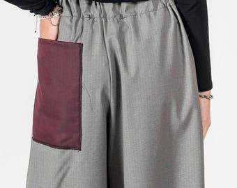 Trousers MoD. Light grey poppy/pinstripe