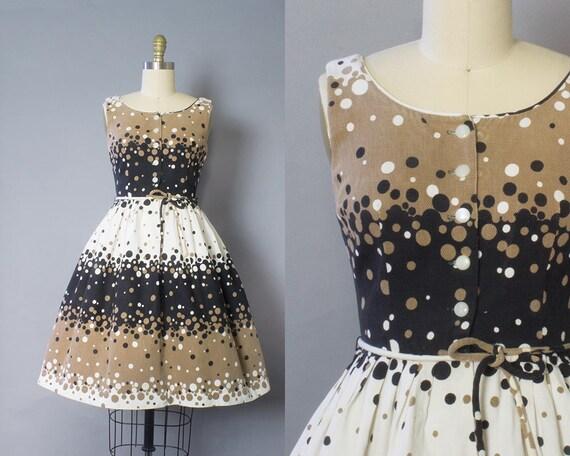 1950s Pique Polka Dot Dress/ XS (32B/24W)