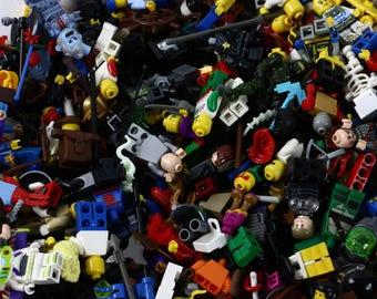 LEGO Minifigure Lot 1/2 lb Pound Various Pieces