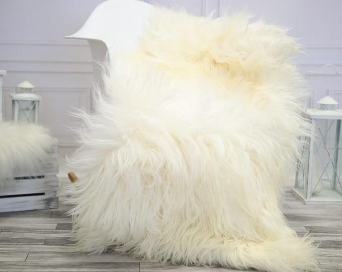 Icelandic Sheepskin   Real Sheepskin Rug   Ivory Sheepskin Rug   Fur Rug    Home decor #JANISL26