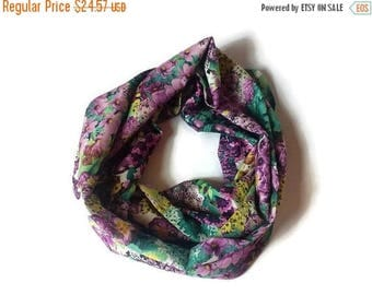 15% off gift for her scarf purple yellow green scarf infinity scarf woman scarf for women chiffon scarf mother gift for mom scarf fashion sc