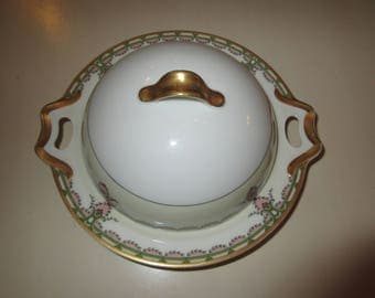 FRANCE HAVILAND LIMOGES Plate with Cover