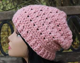 Cotton slouchy hat for teen or adult