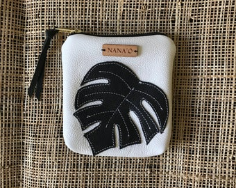 Monstera Coin Pouch