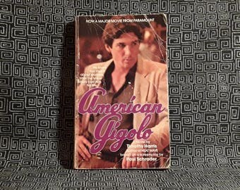 American Gigolo Paperback Book 1980 Movie tie-in, Richard Gere Movie, Timothy Harris, Paul Schrader
