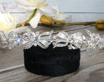 FAST SHIPPING!! Gorgeous Bridal Headband, Silver Swarovski  Headband, Silver Crystal Headband, Swarovski Headband, Crystal Silver Headband