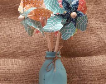 Pinwheels - Summer Decor- Spring Decor - End of Summer Sale