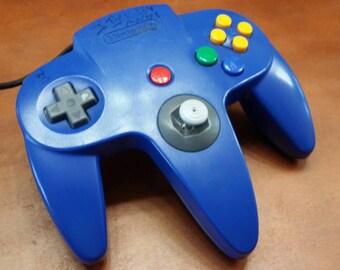 Nintendo 64 Controller blue, n64 blue controller, n64 controller, Nintendo 64 controller
