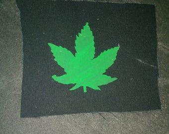 Pot leaf patch