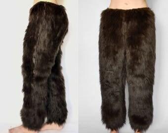 Brown Fur Pants, Brown Bear Pants, Werewolf Pants, Fur Pants, Fur Costume Pants, Fur Pants, Fur Bear Legs, Fur Werewolf Legs, Dark Brown