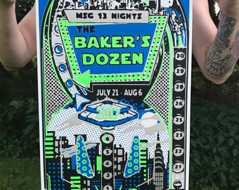 PHISH Bakers dozen poster screen print Phanart