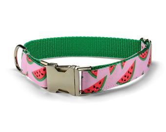 The Watermelon Dog Collar, Colorful Dog Collar, Pink Dog Collar, Fancy Dog Collar, Preppy Dog Collar, Girl Dog Collar, Girly Dog Collar