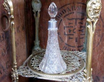 Perfume Bottle, Vintage Perfume Bottle, Scent Bottle, Glass Bottle, Glass Scent Bottle, Cut Glass Bottle, Glass Scent Bottle, Dressing Table