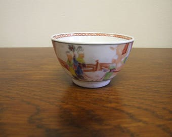 New Hall Porcelain Pattern 621 Tea Bowl - Circa 1790