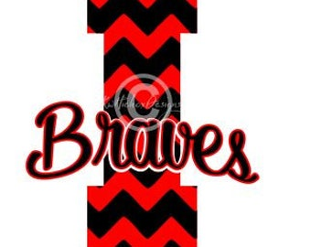 High School Logo Svg, I Braves Svg, Dxf For Silhouette