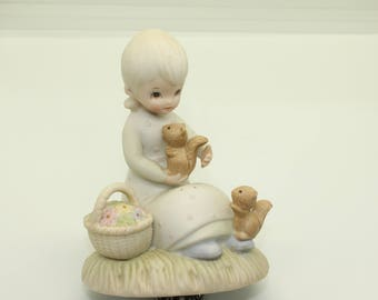 Signed Vintage Porcelain Figurine by Lefton China The Christopher Collection