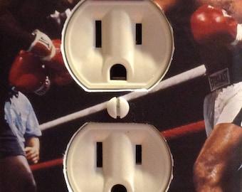 Boxing  Muhammad Ali vs. Joe Frazier Outlet Cover Plate Bathroom Bedroom Living Room Mancave Sports Bar Restaurant Gym Free US Shipping