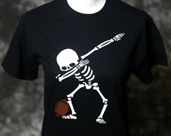 Dabbing Skeleton dabbing shirt skeleton shirt dabbing skeleton dab halloween skeleton skeleton adult ladies youth football sport Halloween