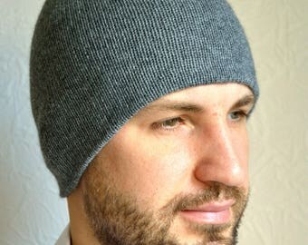 Hand made 100% cashmere men's hat