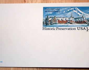 8 Mint USPS Stamped Postcards--Scott #UX119--Historic Preservation: Timberline Lodge, Mt. Hood, Oregon--14c--1986--Shipping Included
