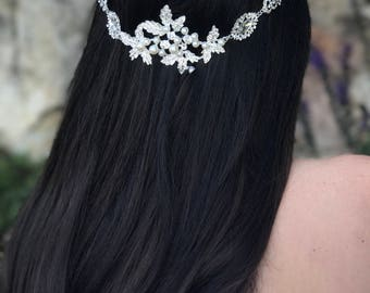 Wedding Hair Accessory, Bridal Hair Accessory, Rhinestones  Hair Jewel, Clip-In Hair Jewelry, Crystal Hair Jewelry