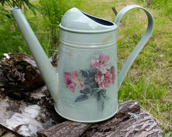 Watering can, watering jug, galvanized watering can, home decor, garden decor, collectibles, decoupage, vintage