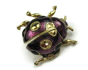 Purple Ladybug Brooch
