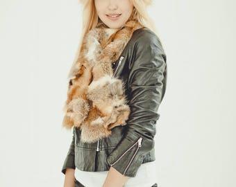 Wonderful real fox fur scarf