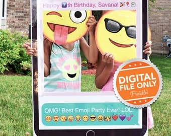 Mobile Phone Photo Booth. Party Prop Frame. Digital file only