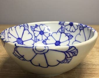 Cobalt floral small bowl