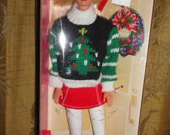 Vintage Mattel 1996 Special Edition Holiday Season Barbie Doll #15581 In It's Original Packaging Box