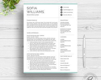Making A Resume On Word Excel Resume Template  Etsy Entry Level Software Engineer Resume with Functional Resume Format Word  Southworth Resume Paper