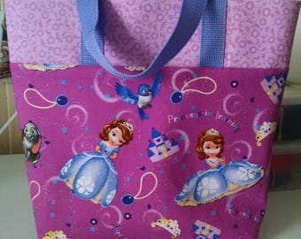 Girls Sophia the First Tote Bag Library Bag Ladies Tote Preschool Bag