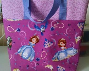 Girls Sophia the First Tote Bag Library Bag Ladies Tote Preschool Bag