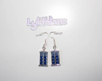 Tardis (Doctor Who) Themed Police Box Earrings