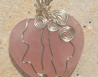 Stone Pendant Rose Quartz Love